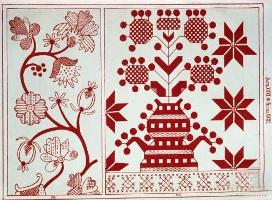Вышивка роспись схемы растительного орнамента